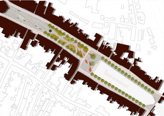 Ontwerp herinrichting Havenplein, Havenpark en Oude Haven (Bron: Bureau B+B)